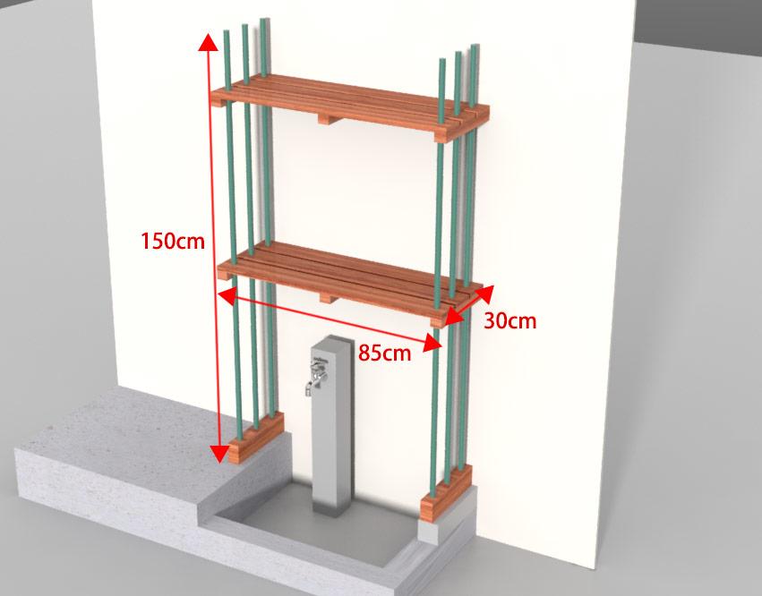 MODO-DIYシミュレーション:鉢置き棚