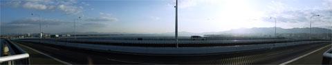 びわ湖大橋からの眺め-南側180度分