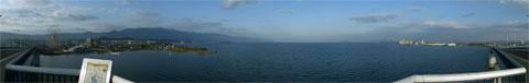 びわ湖大橋からの長め-北側の180度