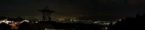 六甲山上大パノラマ画像 見晴らしの丘からの画像