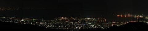 六甲ガーデンテラス 見晴らしの塔からのパノラマ画像