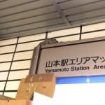 駅のこんなところに、つばめの巣が・・・