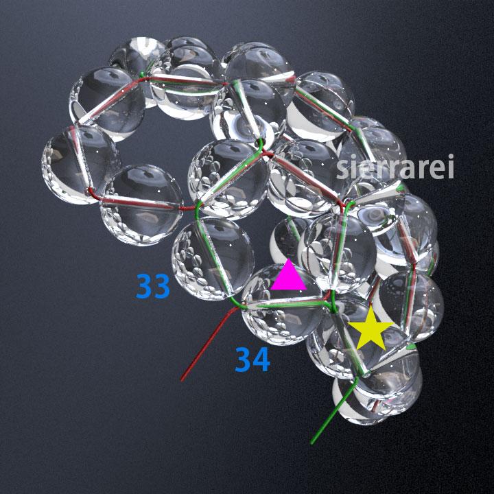神聖幾何学 フラーレン バッキーボール 水晶ビーズ9