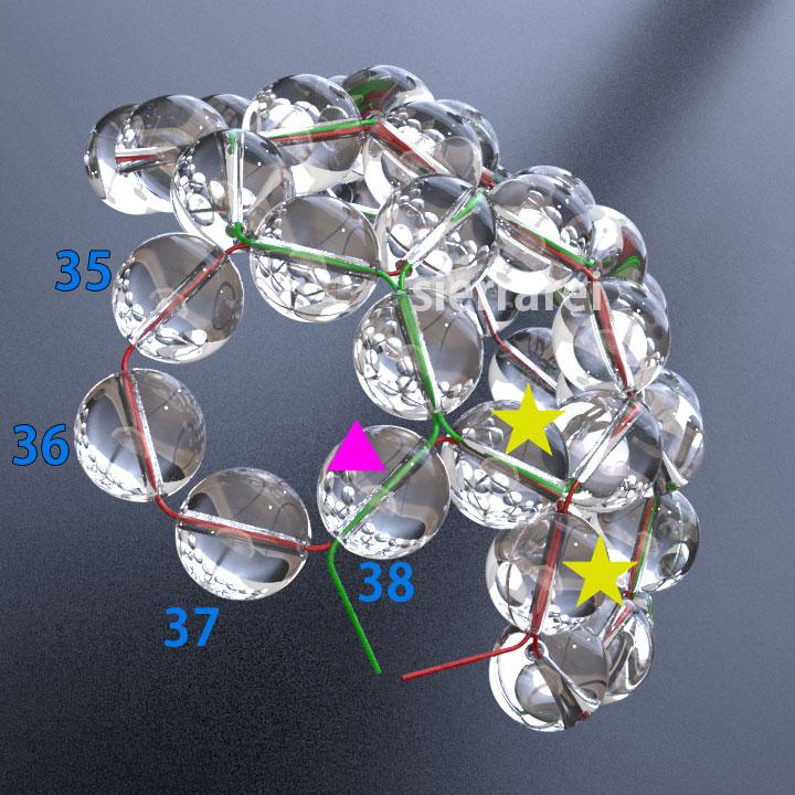 神聖幾何学 フラーレン バッキーボール 水晶ビーズ10