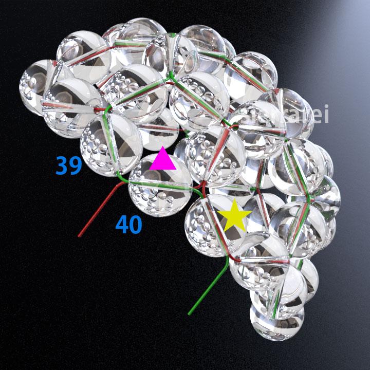 神聖幾何学 フラーレン バッキーボール 水晶ビーズ11