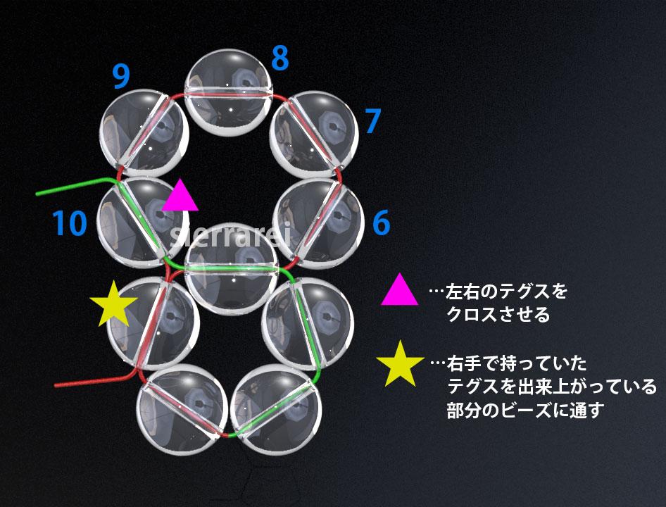 神聖幾何学 フラーレン バッキーボール 水晶ビーズ2