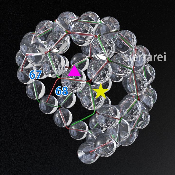 神聖幾何学 フラーレン バッキーボール 水晶ビーズ21