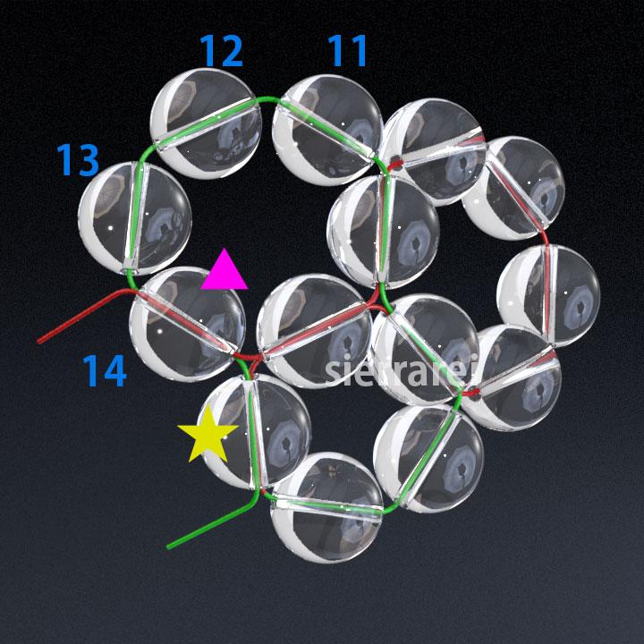 神聖幾何学 フラーレン バッキーボール 水晶ビーズ3