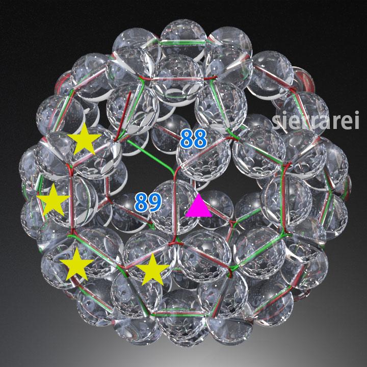 神聖幾何学 フラーレン バッキーボール 水晶ビーズ30