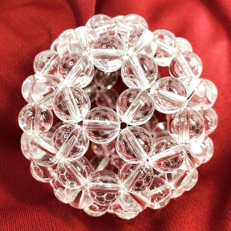 神聖幾何学 バッキーボール フラーレン 正三十二面体 水晶