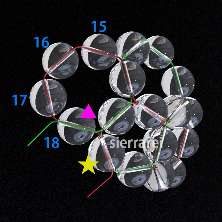 神聖幾何学 フラーレン バッキーボール 水晶ビーズ4