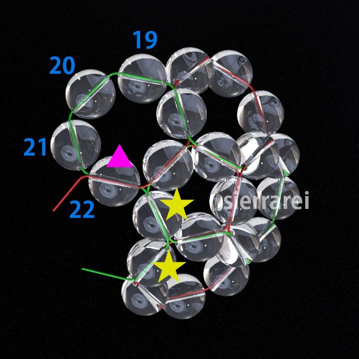 神聖幾何学 フラーレン バッキーボール 水晶ビーズ5
