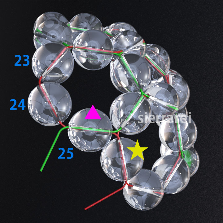 神聖幾何学 フラーレン バッキーボール 水晶ビーズ6