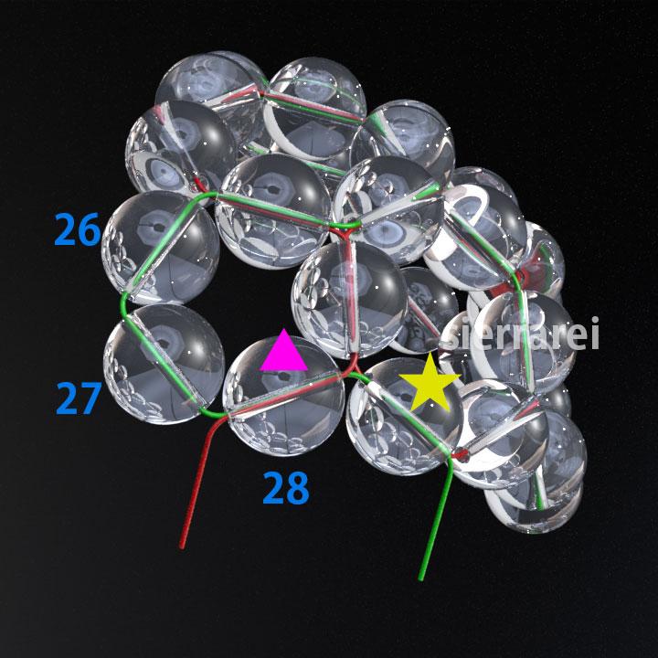 神聖幾何学 フラーレン バッキーボール 水晶ビーズ7