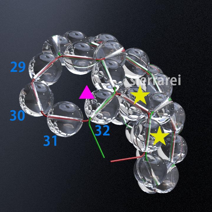 神聖幾何学 フラーレン バッキーボール 水晶ビーズ8